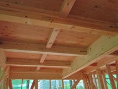 構造・工法・仕様 横揺れに強い「剛床工法」を採用。床をひとつの面として家全体を一体化することで、横からの力にも非常に強い構造となります。家屋のねじれを防止し、耐震性に優れた効果を発揮します。