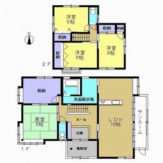 間取り図 【リフォーム中】リフォーム後の間取り図です。和室を洋室に変更し、対面キッチンがあるLDKにする予定です。
