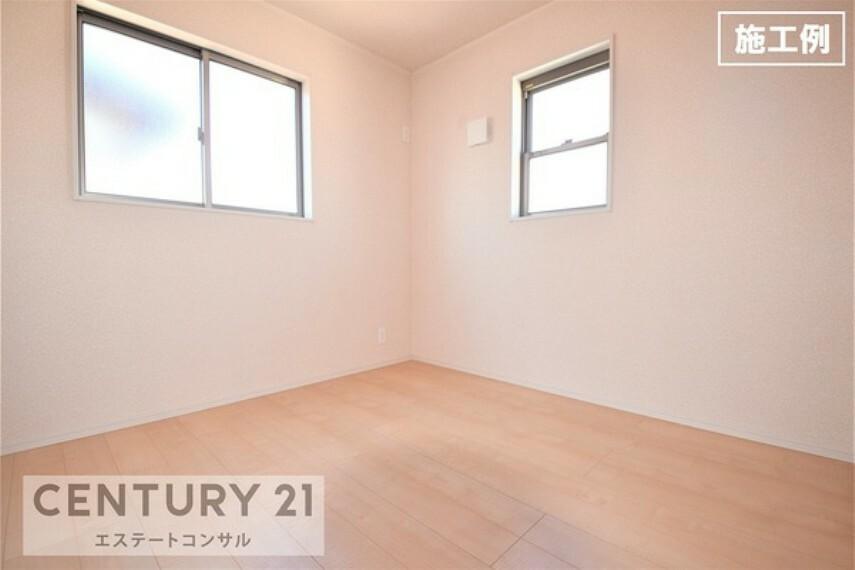洋室 <施工例 洋室> 全室2面採光の明るく、風通しの良い洋室です。