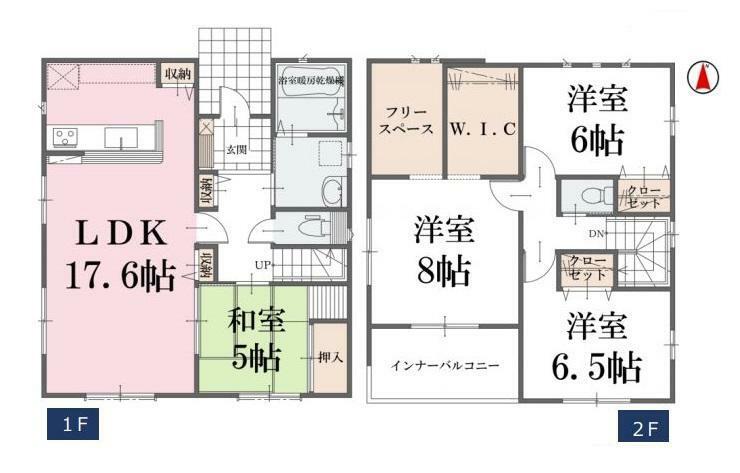 間取り図 【2号棟間取り図】4LDK 建物面積110.41平米(33.45坪)
