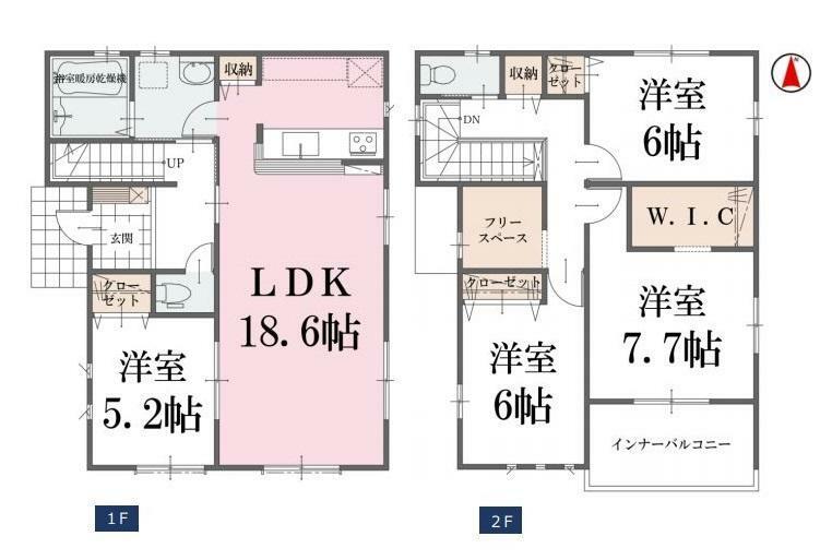 間取り図 【4号棟間取り図】4SLDK 建物面積110.13平米(33.37坪)