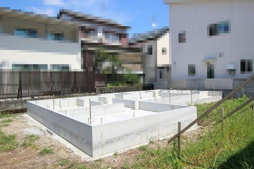 現況外観写真 東棟 2021.9月:基礎工事中