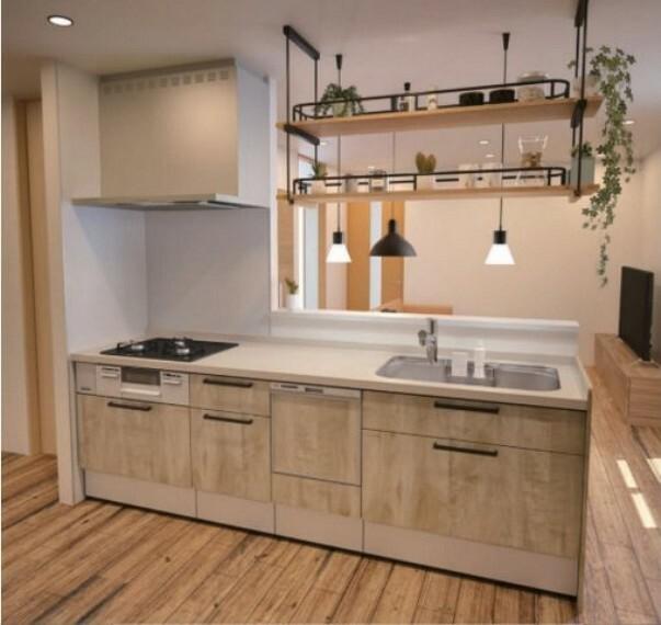 【キッチン】 食器洗い乾燥機付き 奥様の家事が軽減されるだけではなく 水道代・光熱費の節約にも実はつながります! Housetec/LIXILお好きなメーカーからお選びいただけます。