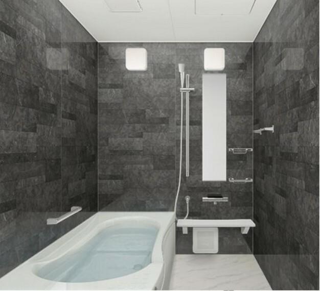 【浴室】 浴室換気乾燥機付きシステムバス 一日の疲れを癒す広々とした浴室。足をのばしてゆったりと湯船につかれます。