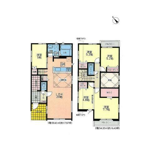 間取り図 4(5)LDK+WIC+土間収納