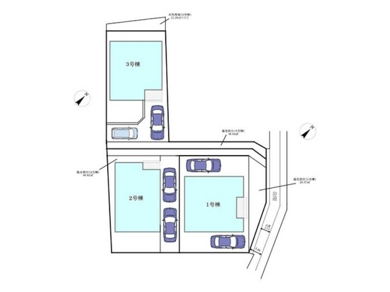 区画図 区画図■昭島市田中町1 新築一戸建て■