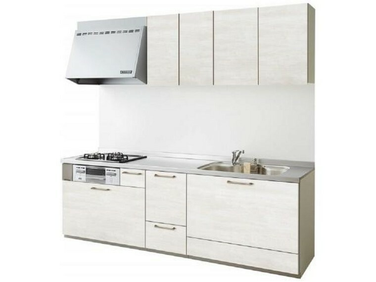 キッチン 【同仕様写真】キッチンは永大産業のものを新設します。天板は人工大理石製なので、熱に強く傷つきにくいため毎日のお手入れが簡単です。