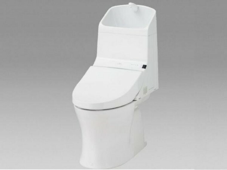 トイレ 【同仕様写真】トイレはTOTO製の温水洗浄機能付きに新品交換します。表面は凹凸がないため汚れが付きにくく、継ぎ目のない形状でお手入れが簡単です。節水機能付きなのでお財布にも優しいですね。