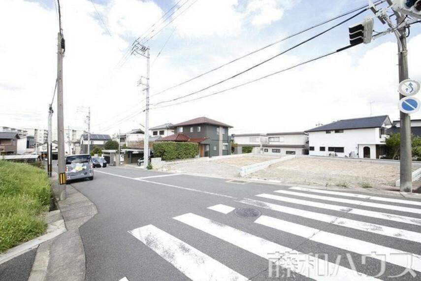 現況写真 8/20撮影 接道状況および現場風景 【名古屋市天白区高坂町】