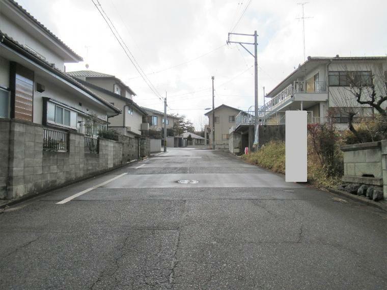 現況写真 【前面道路】南側幅員約7.6m公道