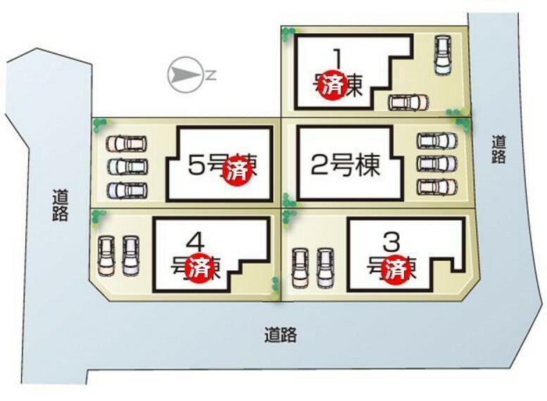 区画図 姫路市勝原区大谷3期 全5邸 区画図