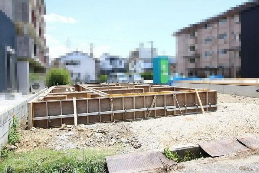 現況外観写真 C号地:基礎工事中