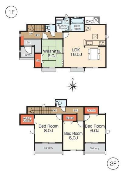 間取り図 【5号棟間取り図】4LDK+WIC 建物面積110.54平米(33.43坪)