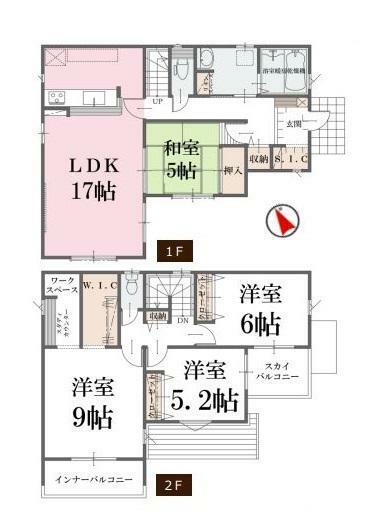 間取り図 【1号棟間取り図】4LDK 建物面積109.30平米(33.12坪)