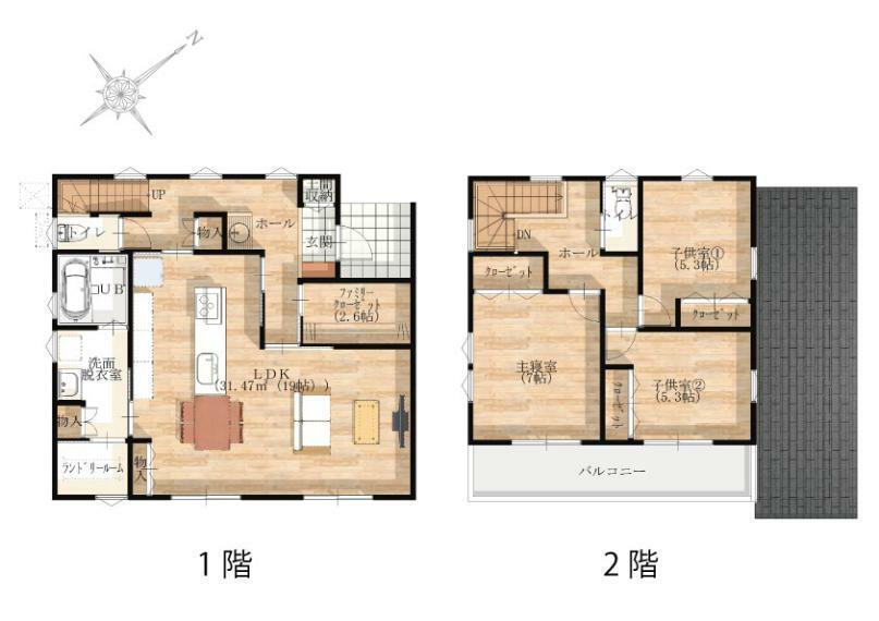 間取り図 【1-2階】