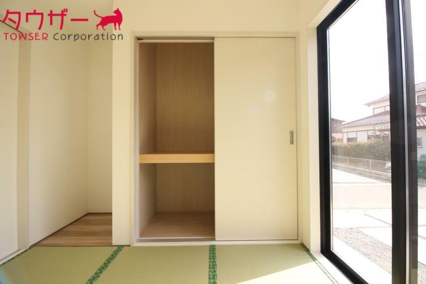 収納 和室にも収納がありますので便利ですね 同社施工例