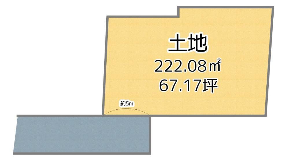 土地図面 敷地面積約67坪(222.08平米)