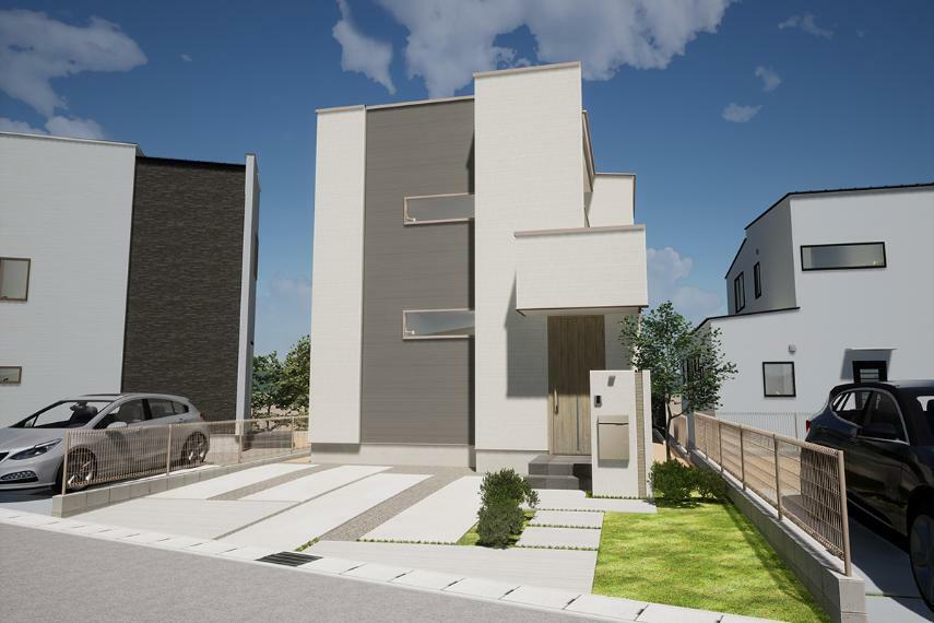 完成予想図(外観) 13号棟「吹き抜け階段のある家」