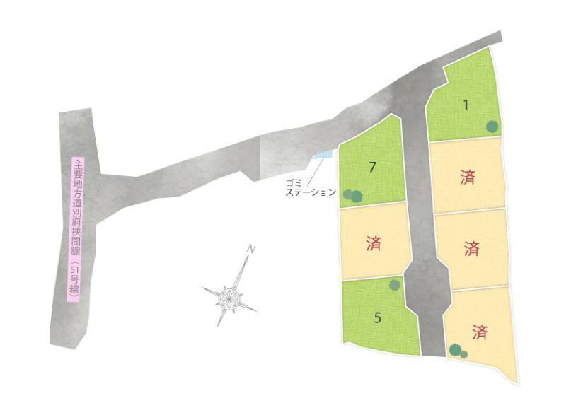 区画図 上市7区画 区画図