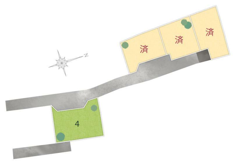 区画図 荏隈4区画全体区画図