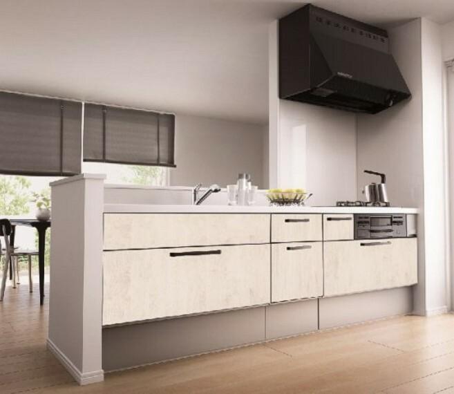 料理しやすさを考え抜いて生まれましたシンク下ユニット収納やフルオープンレールソフトクロージング機能等大きく見やすく使いやすい収納食洗機や浄水器も標準装備されています