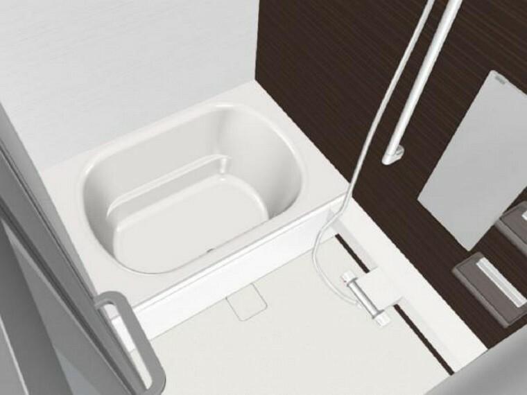 浴室 【同仕様写真】浴室はハウステック製の新品のユニットバスに交換します。浴槽には滑り止めの凹凸があり、床は濡れた状態でも滑りにくい加工がされている安心設計です。