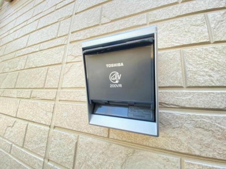 発電・温水設備 <同仕様設備>お家でお手軽に充電できるフタつきEV充電器!今は使わないな、という方でも将来的に電気自動車をお持ちになるかも?今からあると便利ですね!