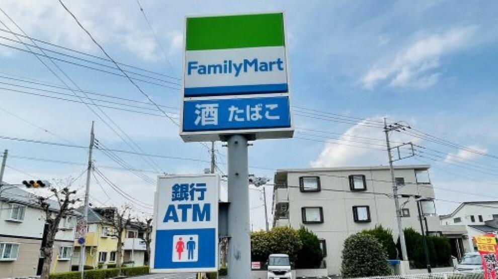 コンビニ 【コンビニエンスストア】ファミリーマート 越谷花田二丁目店まで452m
