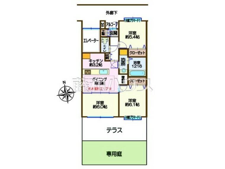 間取り図 間取図 【カザベーラ西武立川】