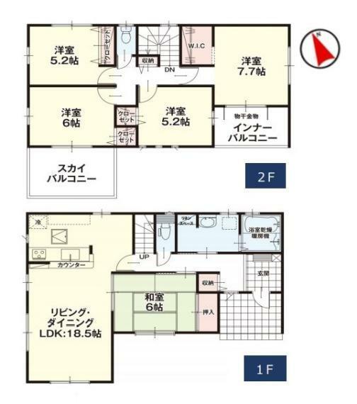 間取り図 【4号棟間取り図】5LDK 建物面積117.61平米(35.63坪)