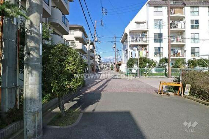 現況写真 敷地東側の前面道路(南側から)