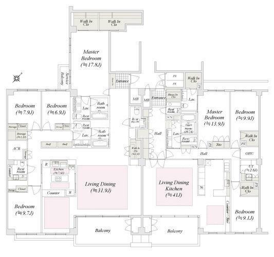 間取り図 Floor Plan (2部屋同時販売)現況が異なる場合は現況優先とさせていただきます。