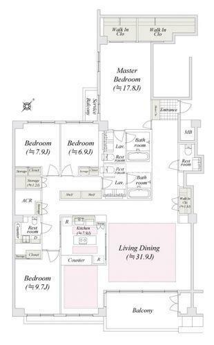 間取り図 Floor Plan 図面と現況が異なる場合は現況優先とさせていただきます。