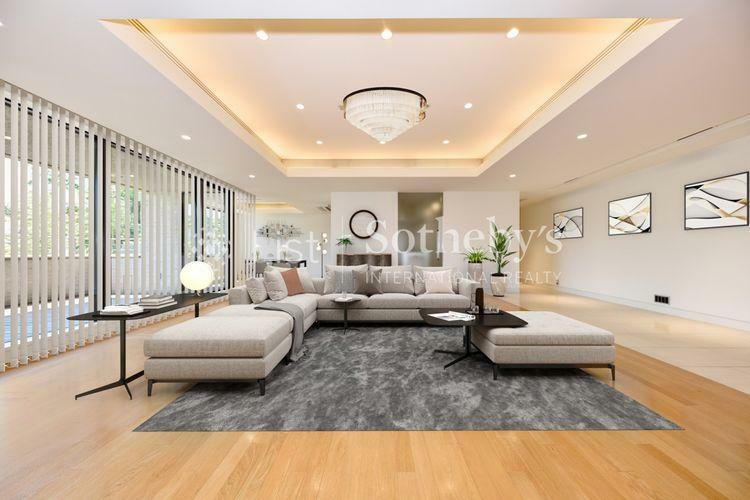 居間・リビング Living (CGホームステージング)こだわりの家具が映えるゆとりある広さを誇るリビング