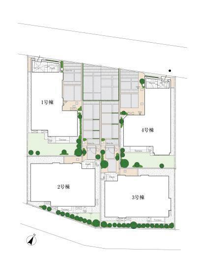 区画図 ※掲載の全体区画図は敷地をイメージしていただくための概念図であり、簡略化して表現しております。