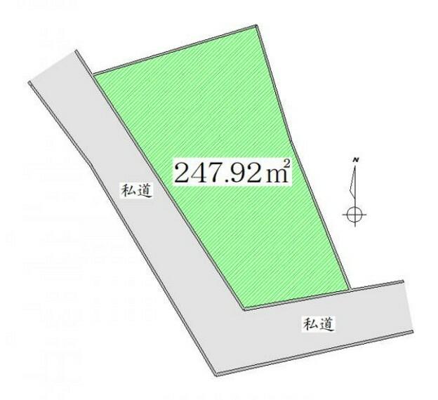 区画図 区画図 ゆとりの土地面積約74坪以上