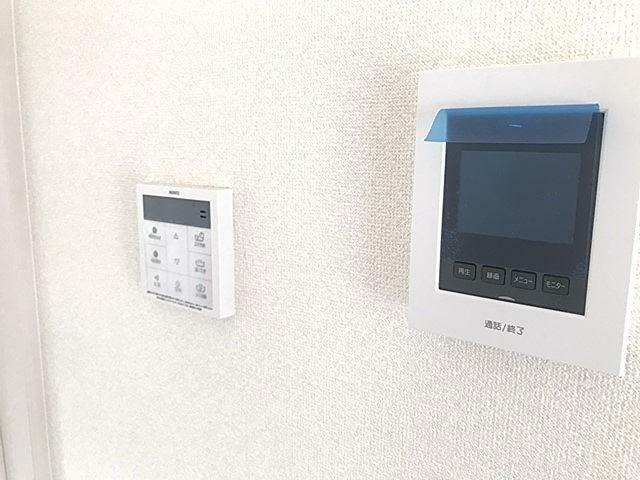 TVモニター付きインターフォン リビングに設置したTVモニターホンです。