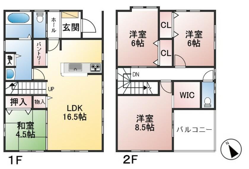 間取り図 土地面積179.21平米 建物面積106.4平米 4LDK