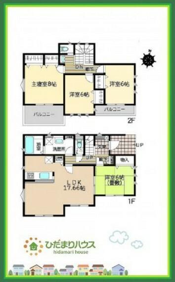 間取り図 広めの主寝室は、ベッドの他にもパソコンデスクやドレッサーなども置けちゃいます(*^-^*)