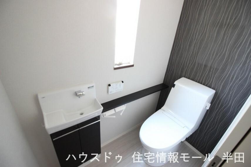 トイレ 手洗い場を別で設けたゆとりの設計