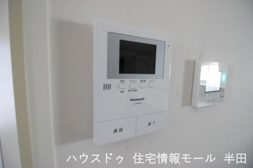 防犯設備 訪問者の確認ができるモニター付インターホン