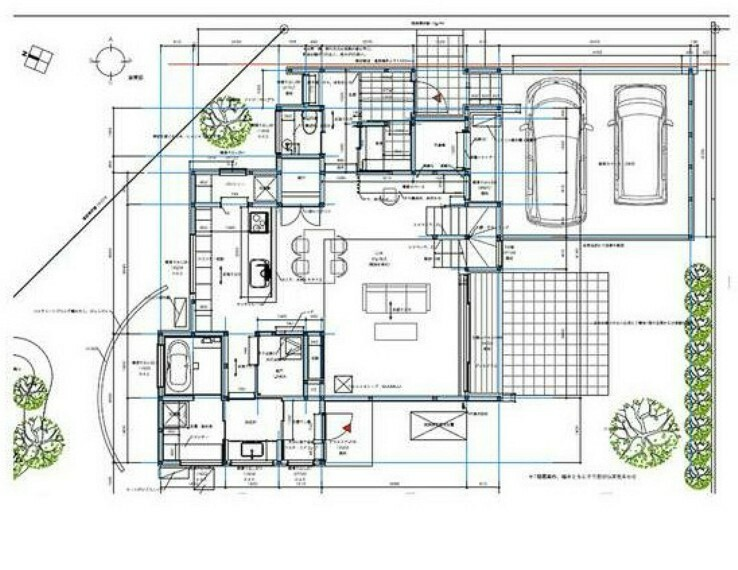 区画図 区画図&1階平面図