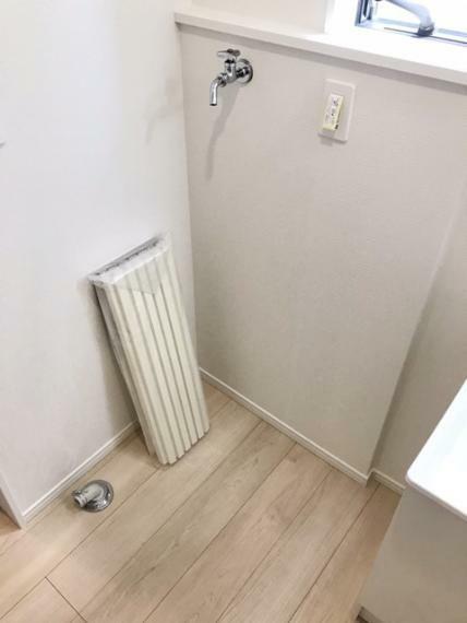 脱衣場 洗濯機置き場です。
