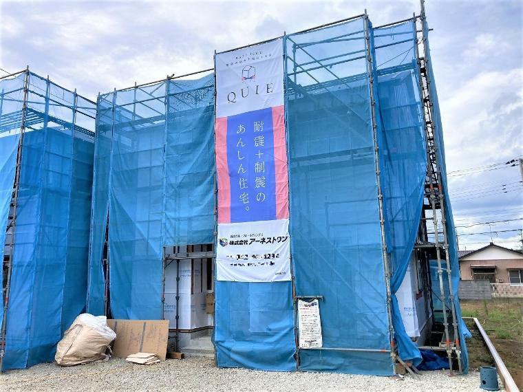 現況外観写真 【3号棟現地写真】9月完成予定!建築中のご案内も随時承っております。お気軽にお問い合わせください。