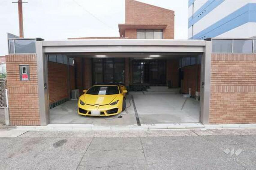 現況写真 物件の駐車スペース[2021年7月9日撮影]
