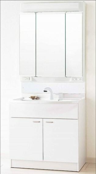 外観・現況 使いやすい大きな洗面ボウルとシャンプードレッサー機能付き洗面化粧台