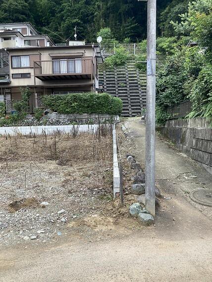 現況写真 敷地周辺は擁壁工事が実施されています。