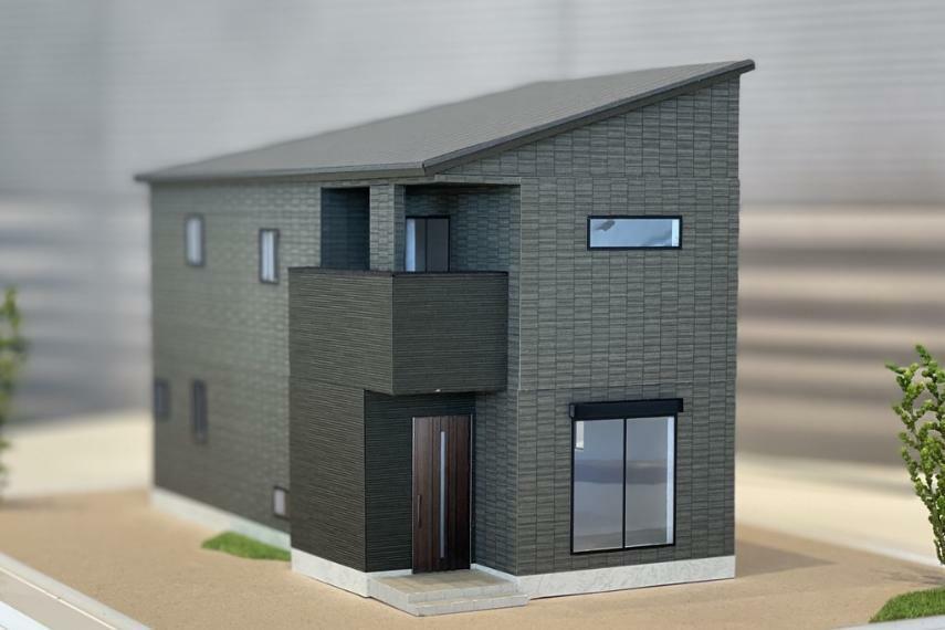 完成予想図(外観) 住宅模型(8号棟)