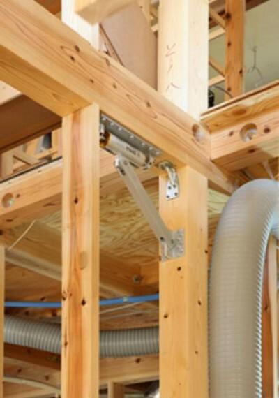 構造・工法・仕様 地震による揺れをゆっくりに建物の傾きを軽減する装置「ダイナコンティ」を採用。