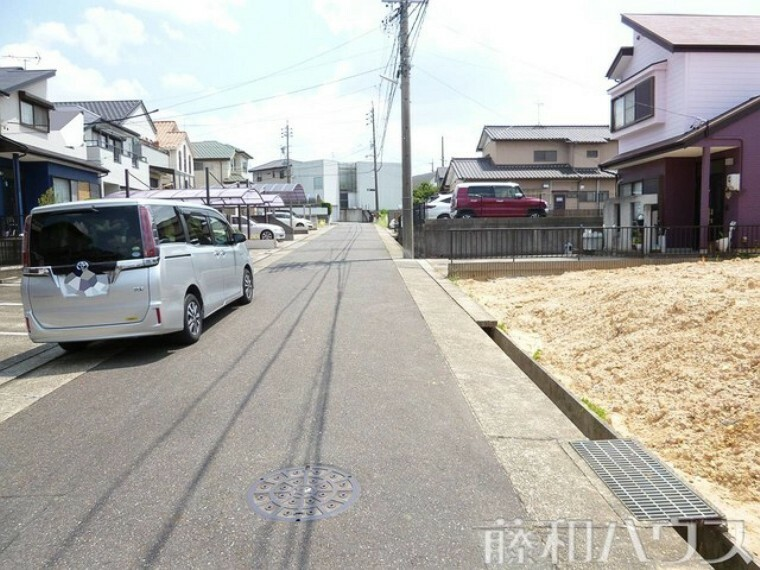 現況写真 7/30撮影  接道状況および現場風景 【名古屋市緑区平子が丘】